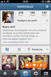 nu hittar du mig som kavatglas på Instagram