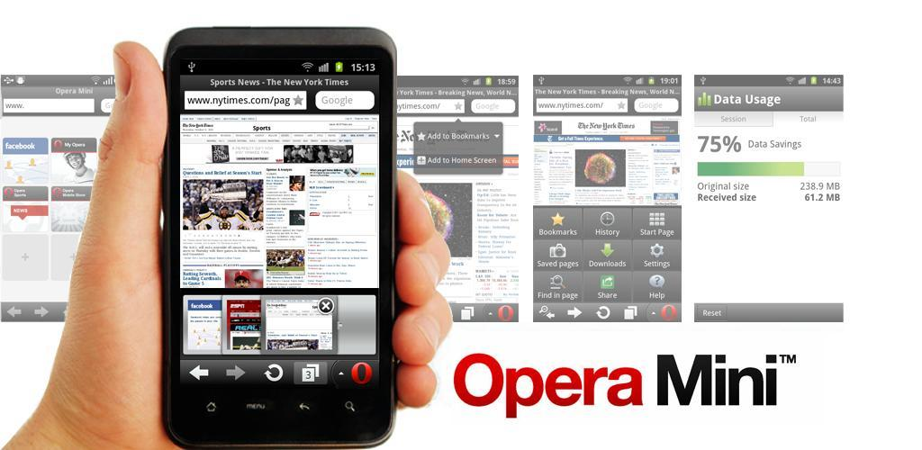 Opera Mini Web Browser Apk For Android Phone Tablet