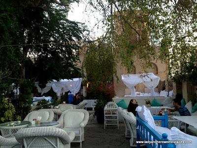 View inside Arabian Tea House Old Dubai