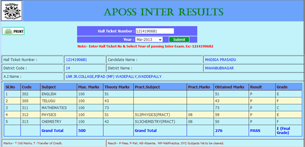 ap open school inter marks sheet duplicate