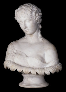 Marble bust of a woman, possibly Antonia,    traditionally identified as the nymph Clytie    © Trustees of the British Museum