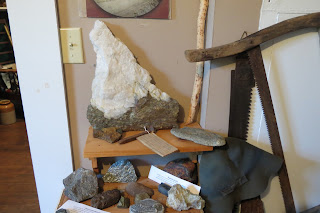 Some of the rocks that are mined from the LaScie area