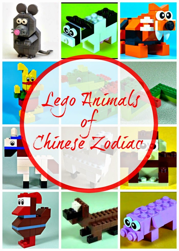 Lego Animals of Chinese Zodiac (with instructions)