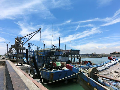 A fishing dock in Xincuozai Chiayi Taiwan