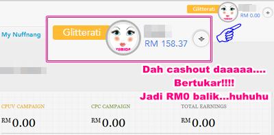 Cashout earning Nuffnang