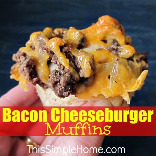 Bacon cheeseburger muffins.