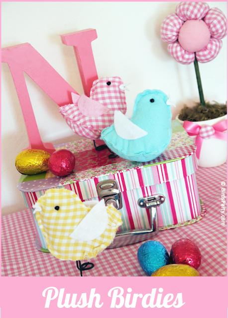 Easter Party Ideas: How to Make Plush Birdies DIY Tutorial and FREE Templates
