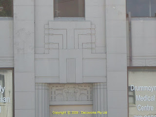 Bank building facade detail