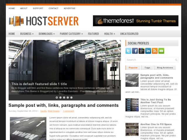 HostServer Blogger Template