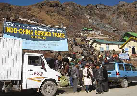 India China border trade at Nathu La