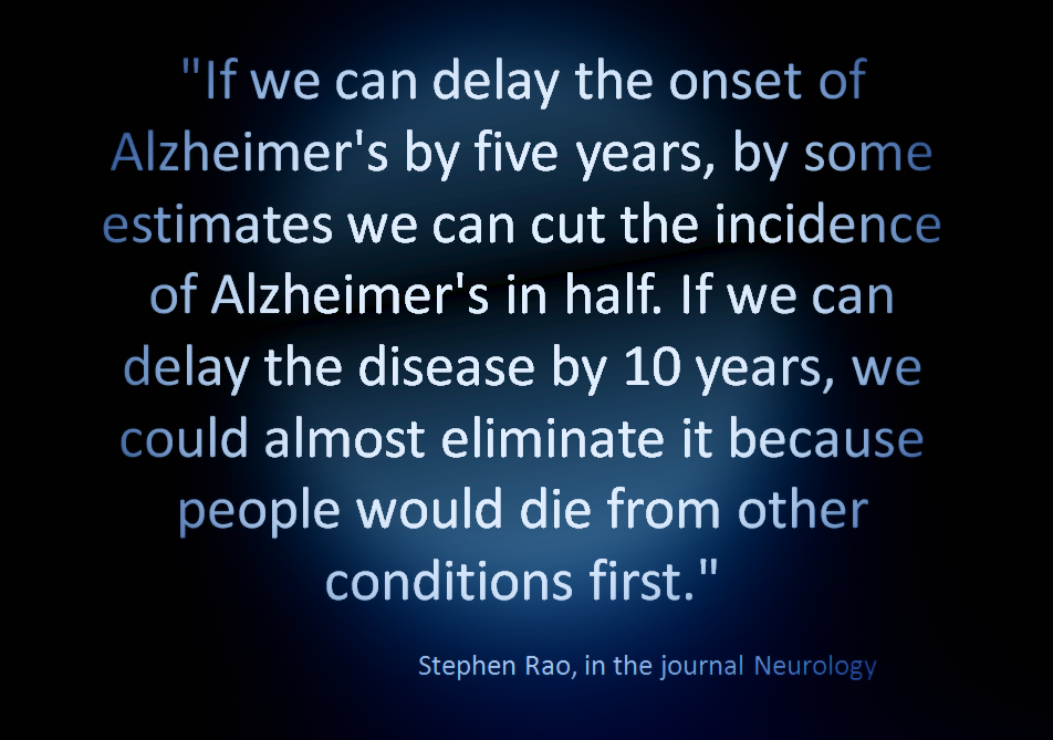 Alzheimer's Quote, If We Can Delay the Onset of Alzheimer's