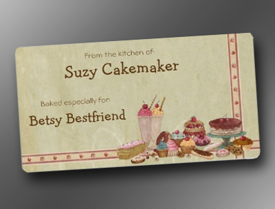Sweet Treats Personalized Baking Labels