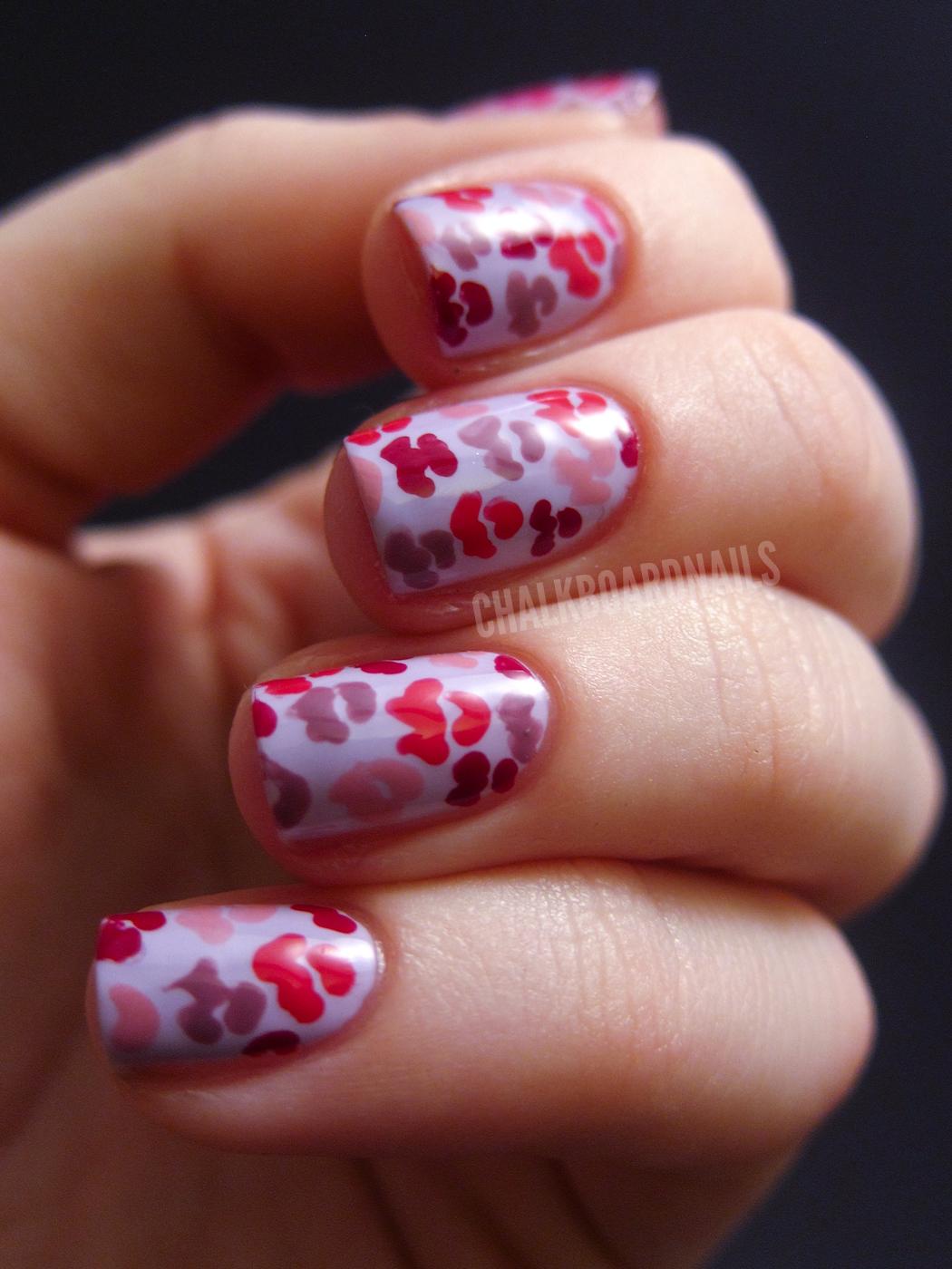 Lovers Kisses Chalkboard Nails Nail Art Blog