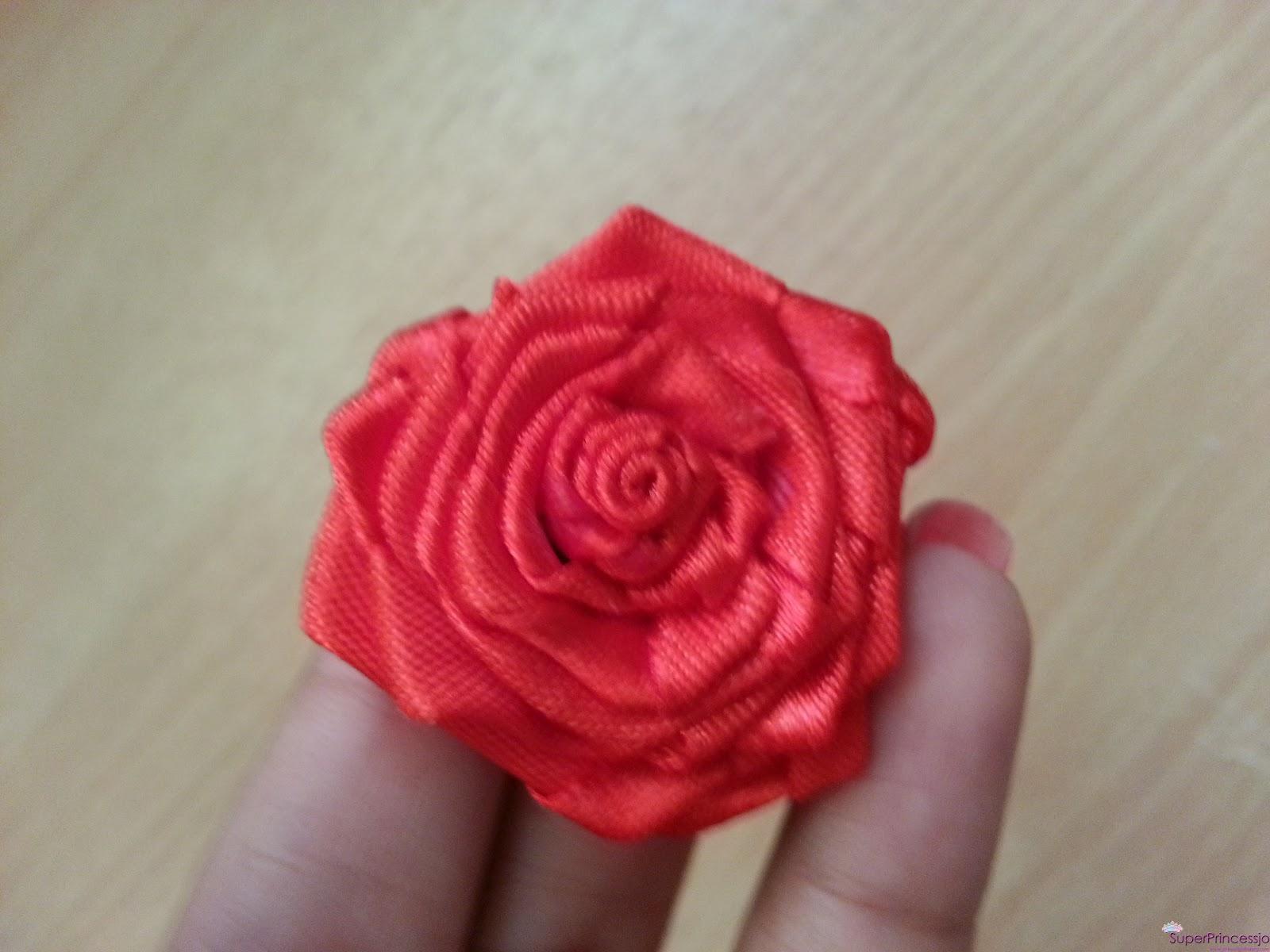 Роза из атласных лент мастер класс с пошаговыми фото