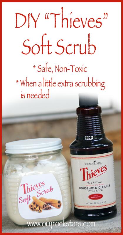 Diy thieves soft scrub oily rockstars - Diy bathroom cleaner essential oils ...