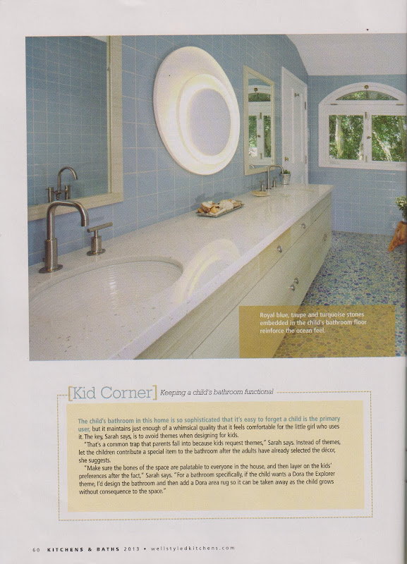 The guest bathroom features a floating sink, which was an innovative  title=