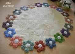 YoYo table cloth quilt