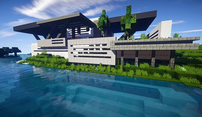 Minecraft casa moderna skybuild constru es de minecraft for Casa moderna minecraft pe 0 10 5