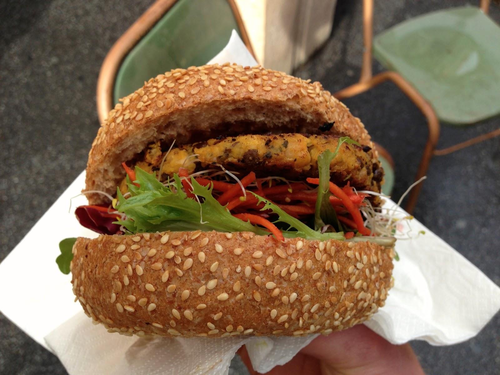 Lentil Burger, Veggie Velo - Peel St Festival, Splash Adelaide