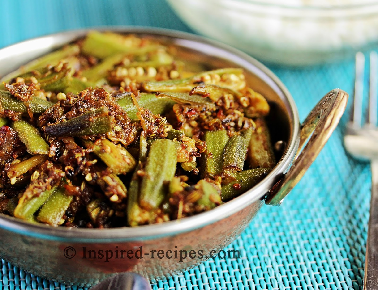 Bhindi Masala with Saunf - Spiced Okra with Fennel Seeds ~ Inspired ...