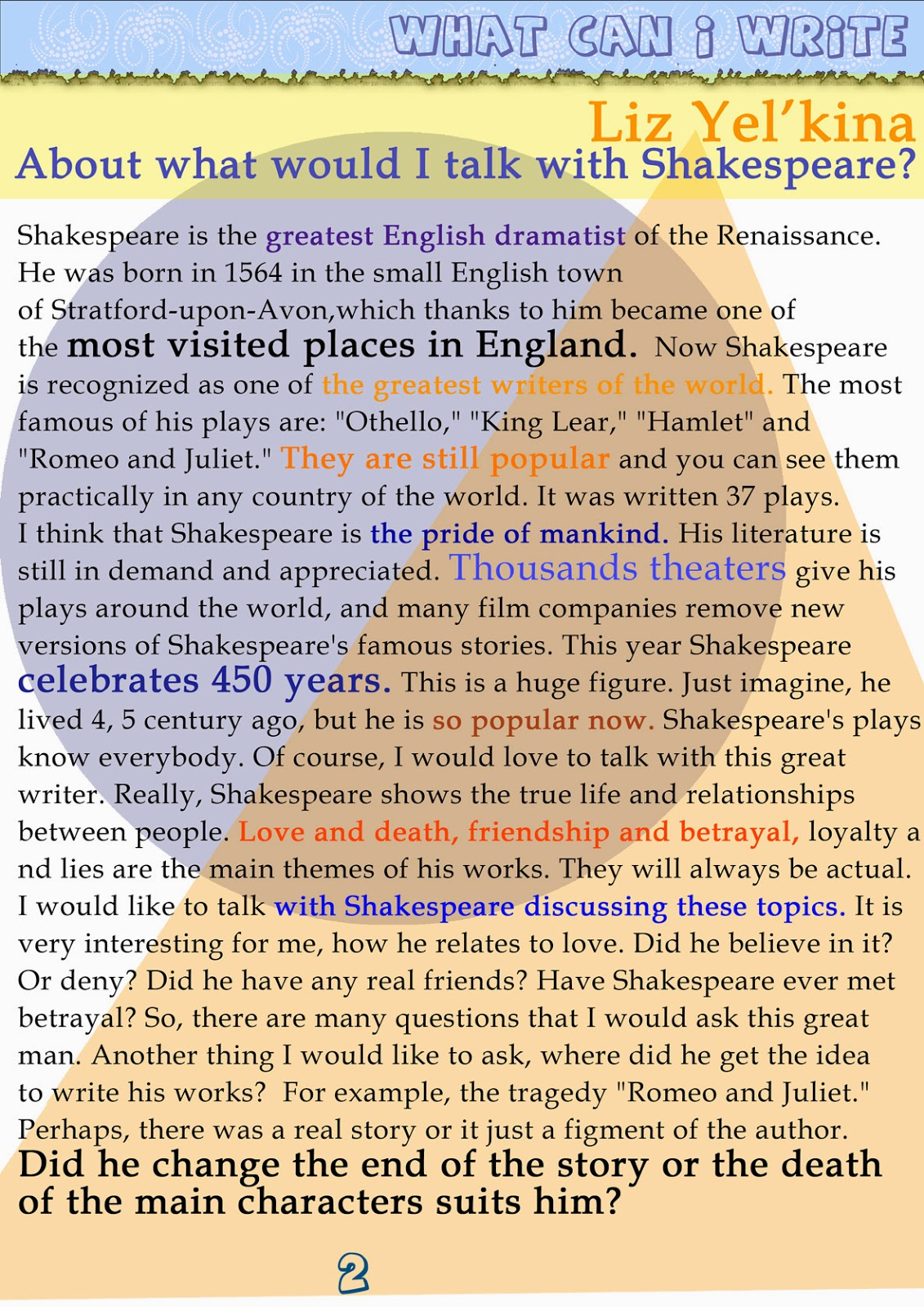 did shakespeare write his plays The iconic bard of avon, william shakespeare, wrote at least 38 plays and over 150 poems in his prolific writing career though none of his own personal books survive, scholars can determine many.