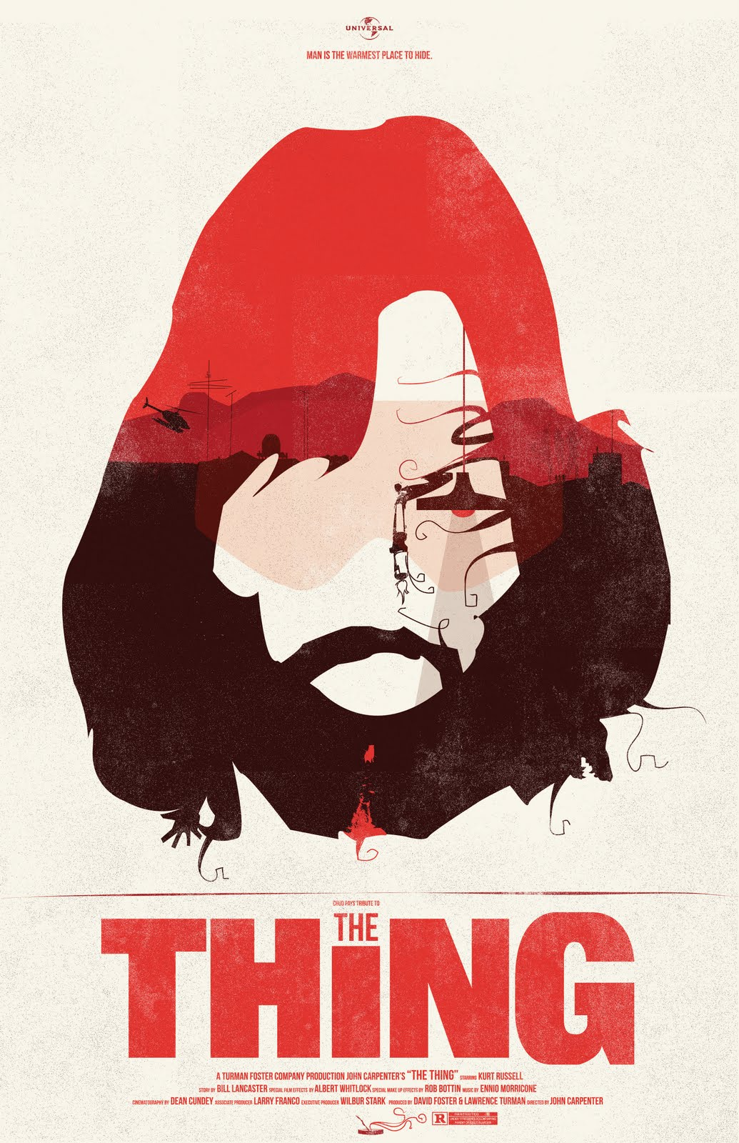 the geeky nerfherder movie poster art the thing 1982