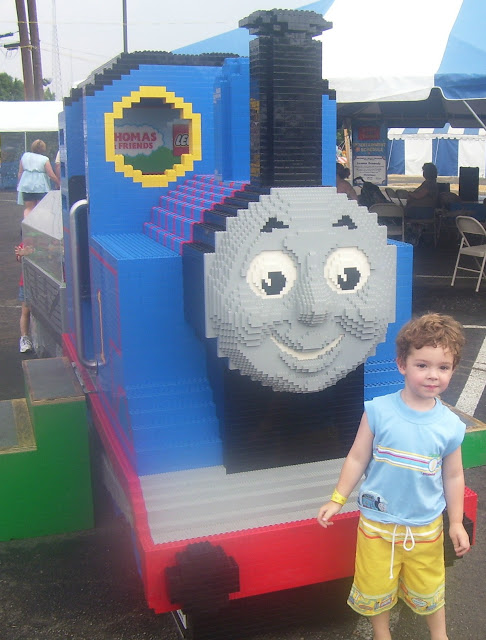 Giant Lego Thomas the Train.