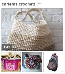 Carteras a crochet