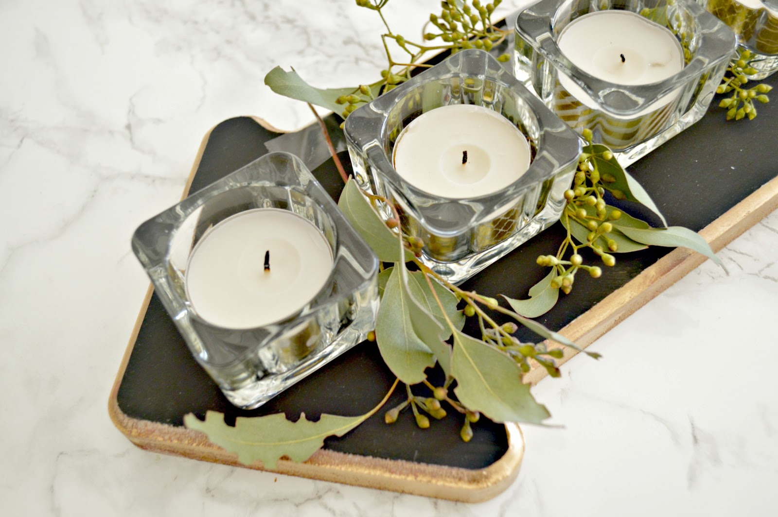Unique Wood Candle Centerpiece