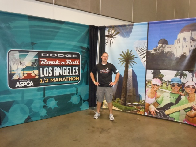 Jason at LA Rock n Roll Half Marathon Expo