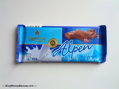 Chocolate con leche (con nata alpina) Maurinus de Aldi.