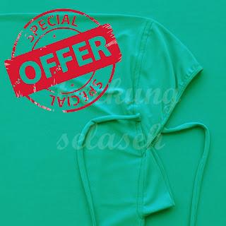Telekung lycra hijau turquoise