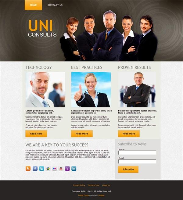 UniConsults - Free Drupal Theme