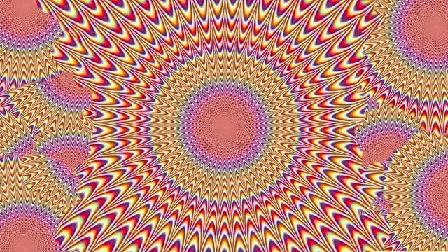 В какой точке картинки вы бы ни сфокусировали свой взгляд, картинка ни на секунду не перестает двигаться.