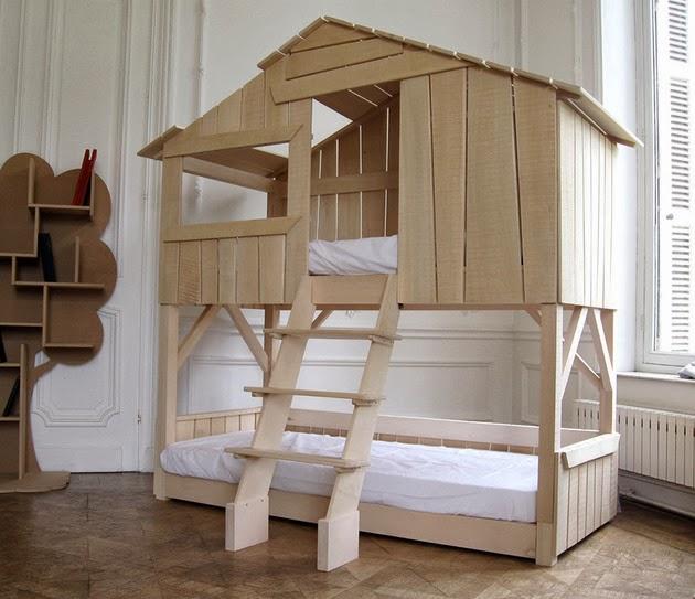 gambar desain interior kamar anak dengan bentuk dan warna