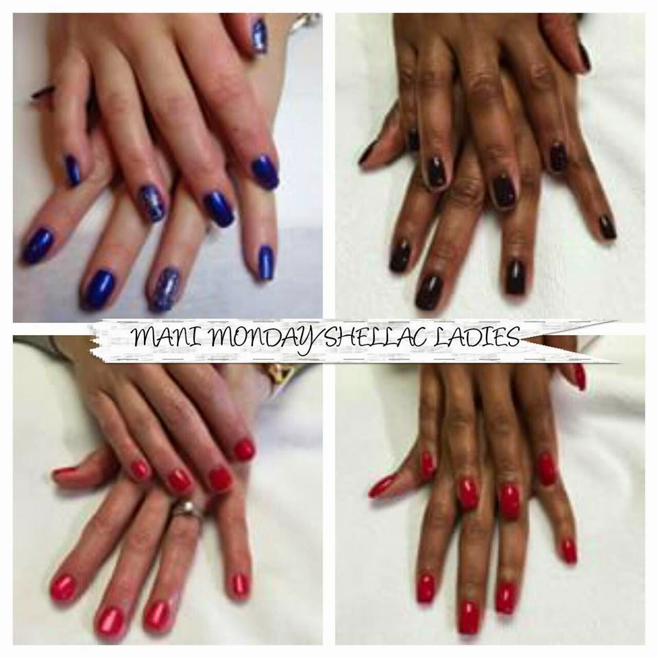 Shellac manicure simple natural nails
