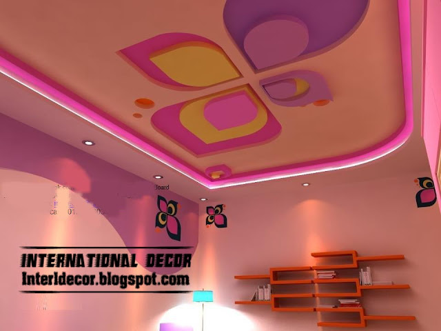 ... false ceiling design for kids room interior - false gypsum ceiling