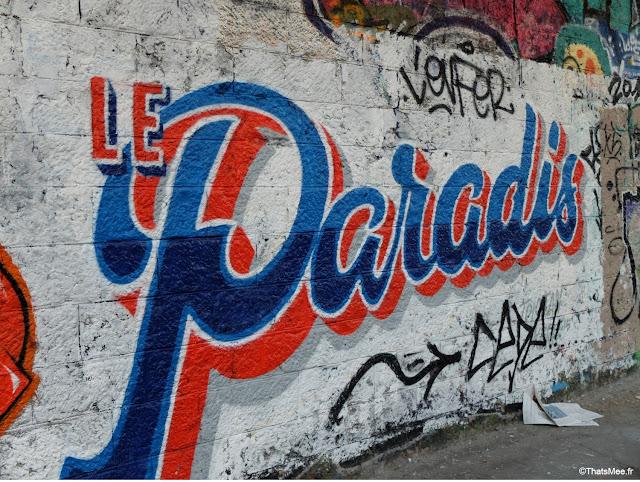 street art le paradis gare de saint-ouen à Paris