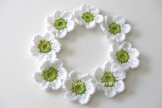 Crochet Flower Applique Spring