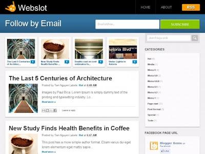 Webslot Blogger Template