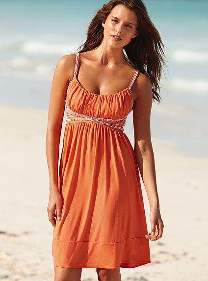 Orange Summer Dress - Corner Nail Art
