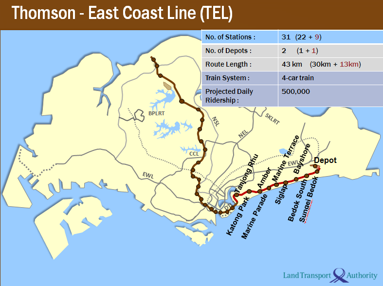 ... Stopped to Think: Thomson-East Coast Line: New MRT Links in the East