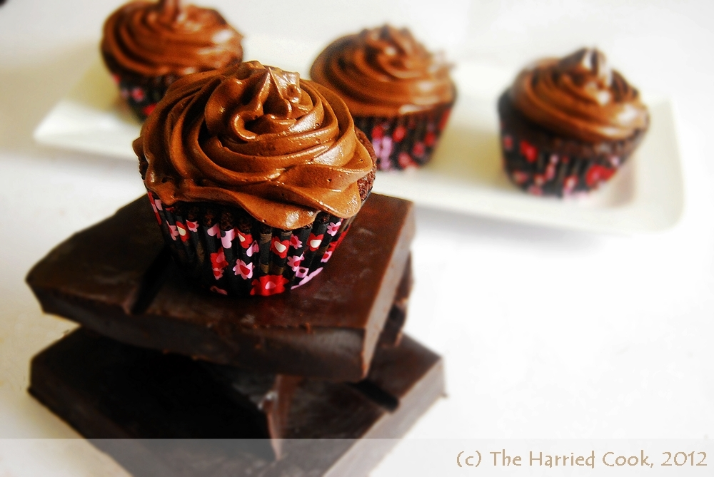The Harried Cook: Moist Chocolate Cupcakes w/ Whipped ...