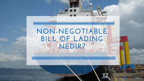 Non Negotiable Bill Of Lading Nedir Sea Waybill Nedir Disticaret