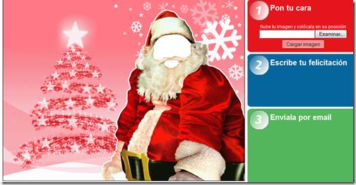 Postal de Navidad con tu cara