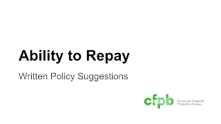 Mortgage Ability to Repay Sample Policy