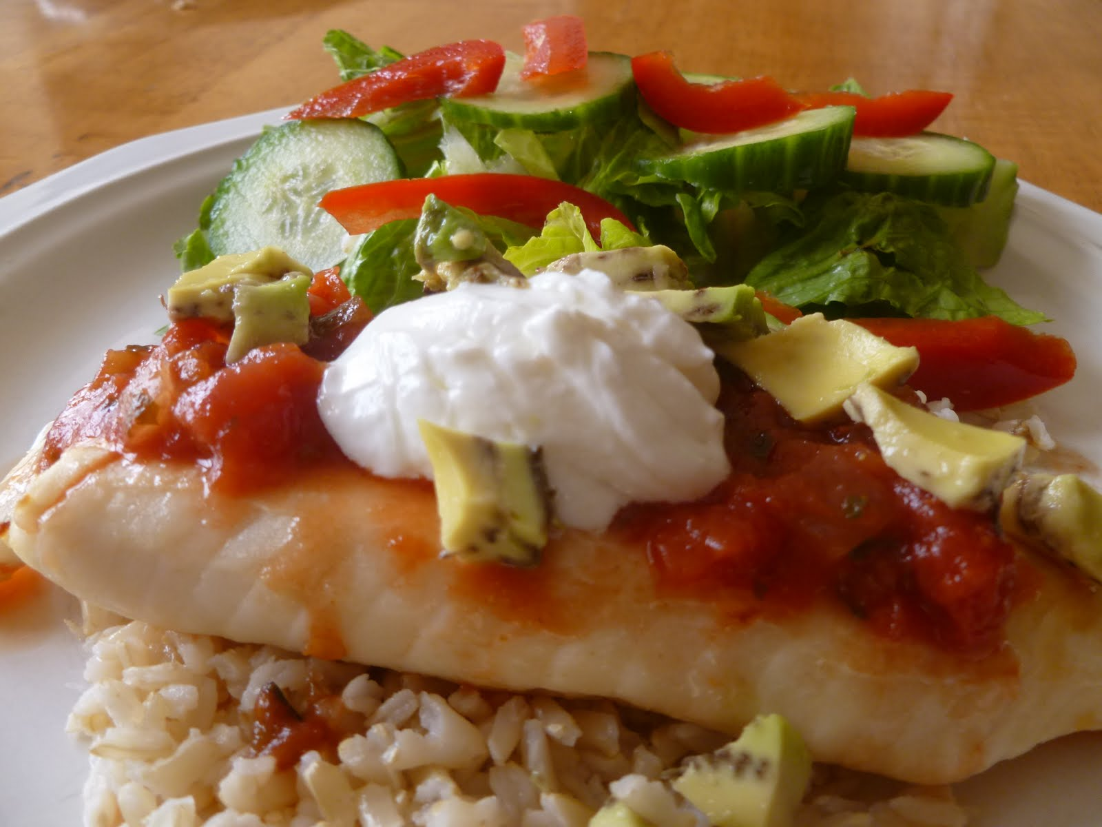 Small and simple things baked fish with rice and vegetables for Baked fish and rice