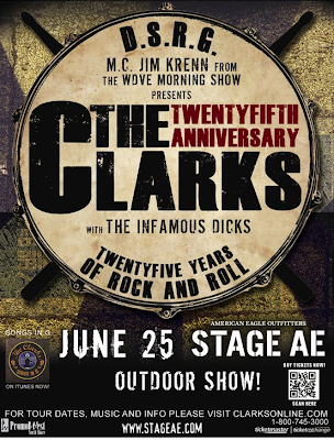 The Clarks, Stage AE, Jim Krenn, WDVE, Pittsburgh, 25th anniversary