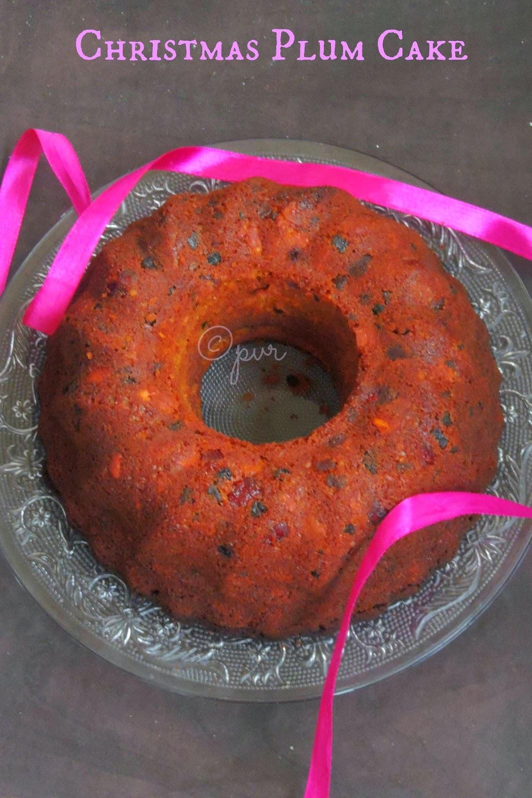 Christmas plum cake