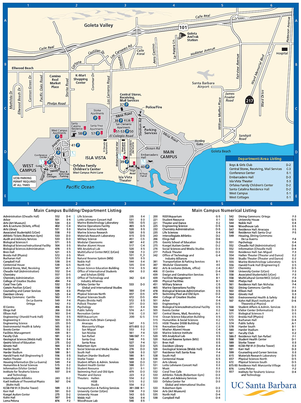 Session B Art 1a Ucsb Campus Map